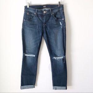 Hudson Bacara Crop Straight Cuffed Jean 28
